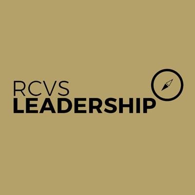 RCVS Leadership logo -black on gold background