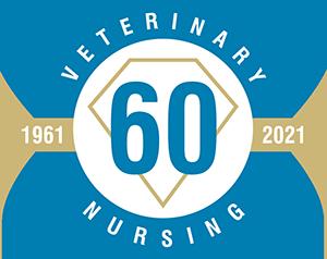 Veterinary nursing 60 years logo